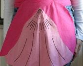 Vintage pink clam apron