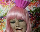As seen on (Good Day LA) YUM Cupcake Party Hat // Pink Hat Pink Heart Pink Frosting