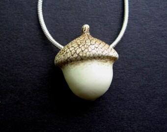 Little acorn necklace pendant