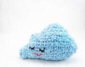 Sleepy Cloud Crocheted Amigurumi - Blue
