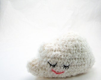 Amigurumi Crochet Pattern - Sleepy Cloud