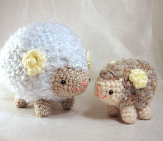 Etsy Amigurumi Sheep : Items similar to Amigurumi Crochet Pattern - Sheep Family ...