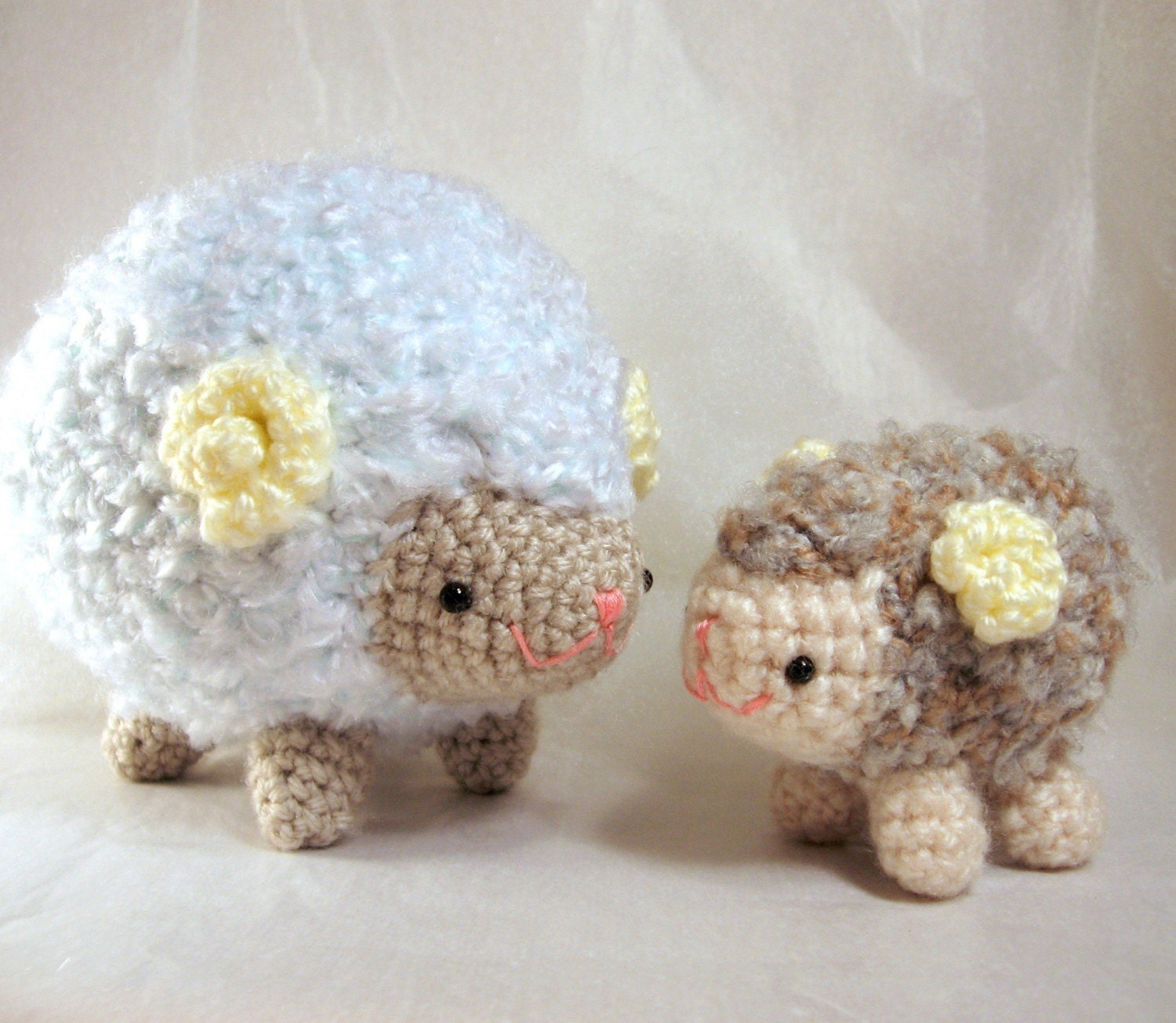Mario Amigurumi Free Pattern : Amigurumi Crochet Pattern Sheep Family Collection by ...