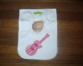 Pink Guitar Bib