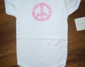Pink Peace Sign Baby One-Piece
