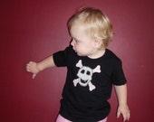 Skull Girl on Black T-shirt