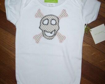 Skull Girl Baby One-Piece