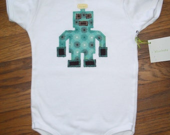 Retro Robot Baby One-Piece