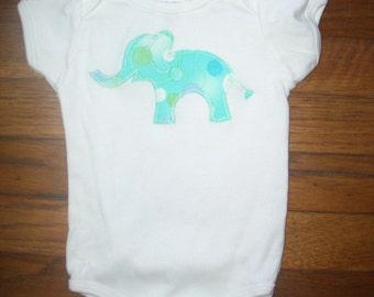 Aqua Elephant Baby One Piece