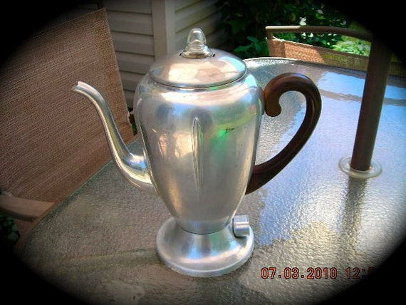 Vintage Aluminum Drip Coffee Pot Flavo-Drip by West Bend, 8 cup