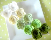 Wool Felt Rose Supply Set of 10 St. Patricks Day