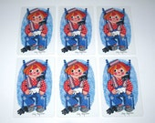 Vintage Children's Playing Cards with Raggedy Andy Set of 6
