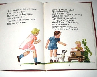 Happy School Days with Billy and Dot Vintage 1940s Children's School Reader or Textbook