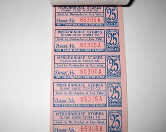 Vintage Merchandise Stores Coupon Book with 95 Coupons Unused