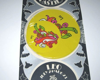 Vintage 1960s or 1970s Set of 6 Zodiac Pasties or Stickers in Original Package Leo