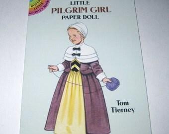 Little Pilgrim Paper Doll Book by Tom Tierney Dover Publications for Children Uncut
