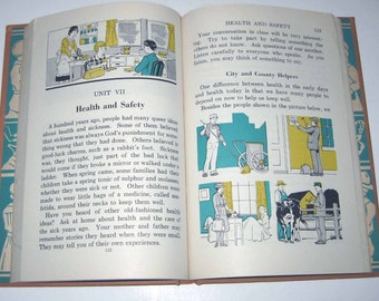 Sharing Interests English in Action Vintage 1940s Children's School Reader or Textbook by D. C. Heath and Co.