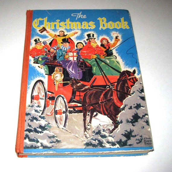 The Christmas Book Vintage 1940s Children's Book