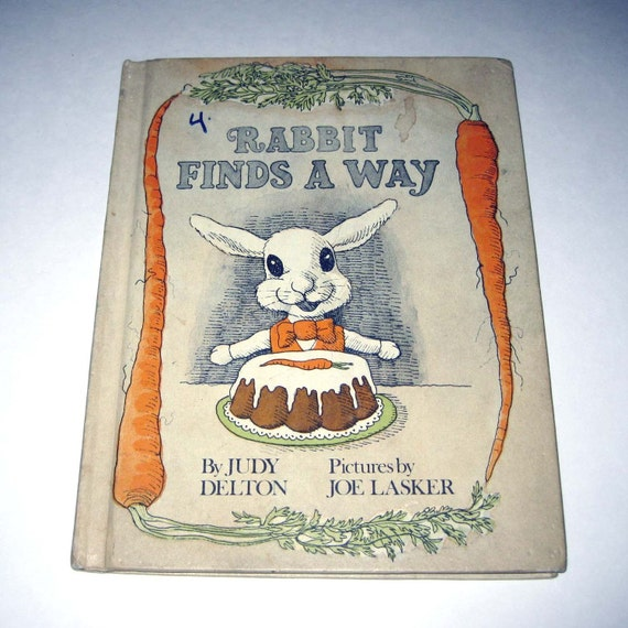 RESERVED FOR LILYSANTA   Rabbit Finds a Way Vintage 1970s Children's Book by Weekly Reader