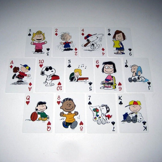 Vintage Peanuts Character Playing Cards Lot of 13