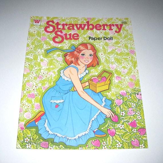 Vintage 1970s Strawberry Sue Paper Doll Book for Children Uncut