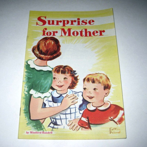 Vintage Children's Booklet Entitled Surprise for Mother by the National Dairy Council