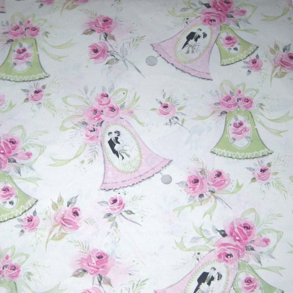 Wedding Gift Wrap Etiquette: Vintage Wedding Wrapping Paper Or Gift Wrap With Bride And