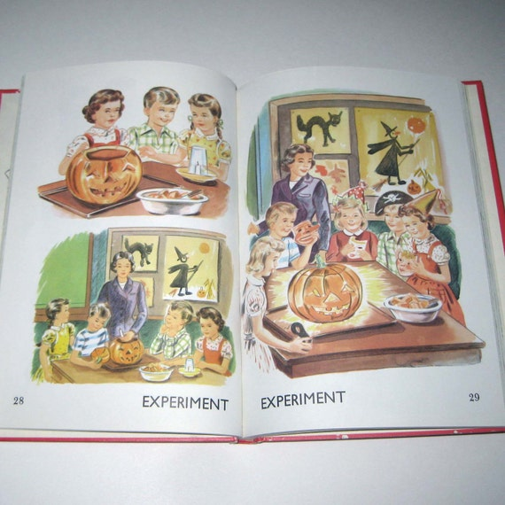 Science for Work and Play Vintage 1960s Children's Science School Reader or Textbook with Halloween