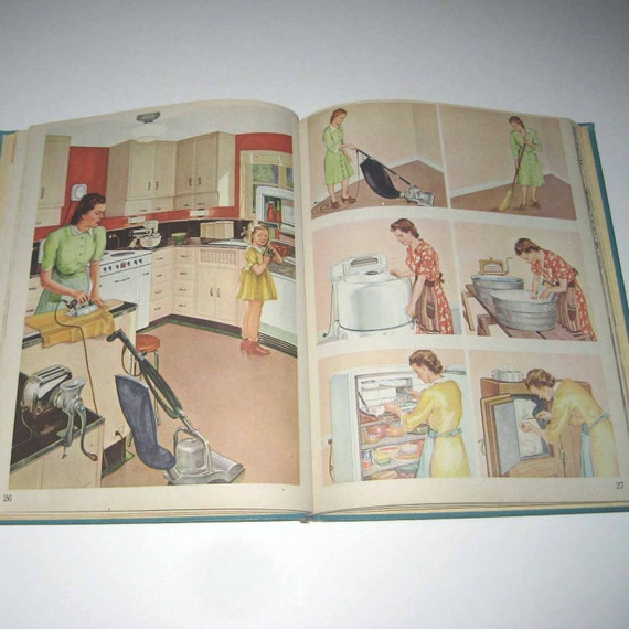 Look and Learn Vintage 1940s Children's School Reader or Textbook with Scottie Dog by Scott Foresman