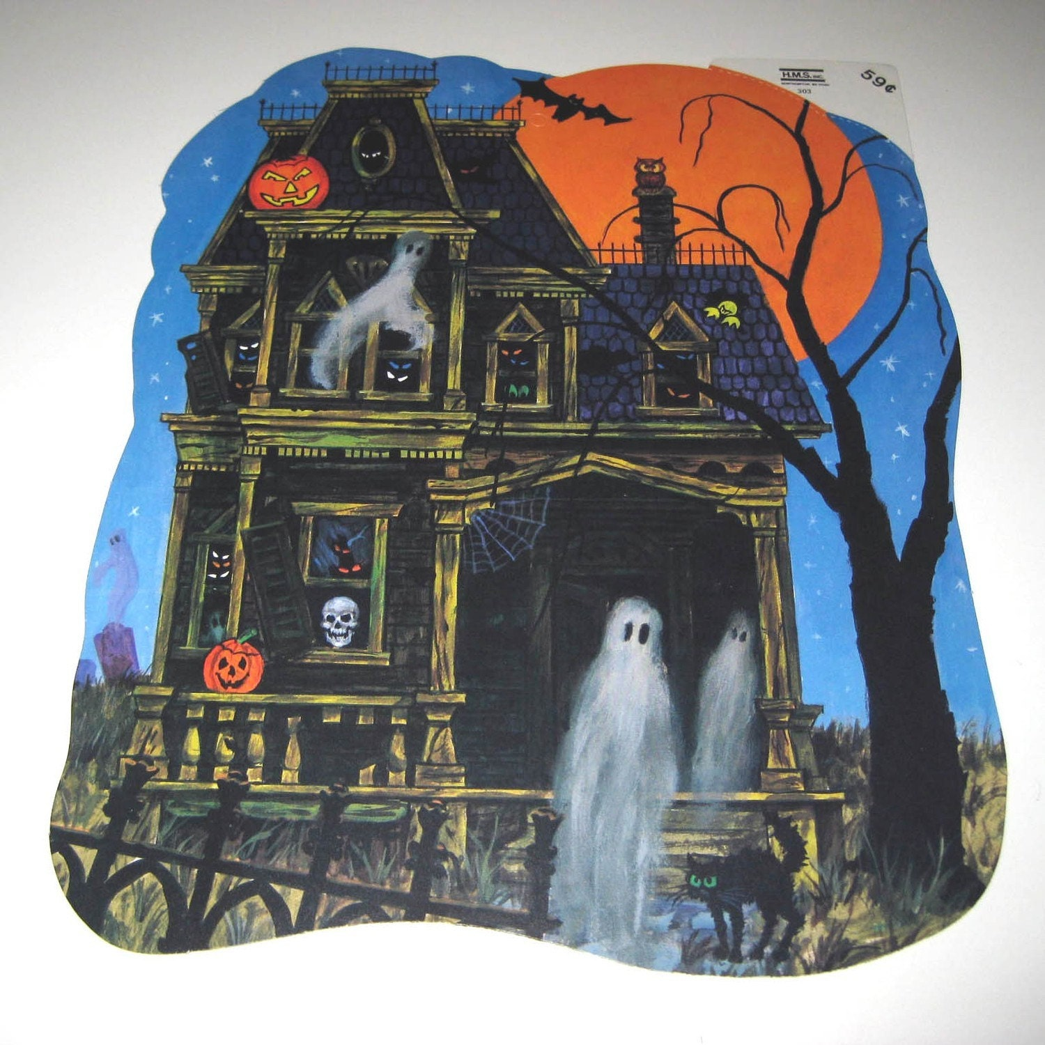 Vintage 1960 Halloween Decorations