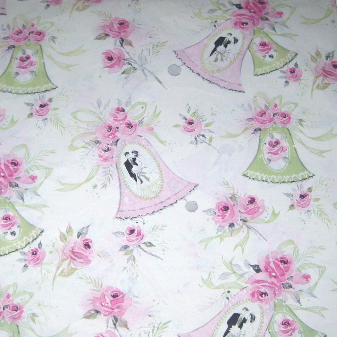 Wedding Gift Paper: Vintage Wedding Wrapping Paper Or Gift Wrap With Bride And