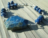 For the Love of Lapis ... Beautiful Lapis Lazuli and Sterling Bracelet