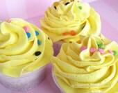 40% OFF SALE  Vanilla Cake Cupcake Bath Bomb