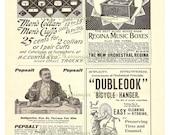 Vintage 1898 Advertising Ads Regina Music Boxes, Dubleook Bicycle Hanger, Pepsalt, Ladies Wear 8x10 Antique Print Digital Download