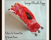 Georgia O'Keeffe Poppy Pattern Beaded Bracelet peyote stitch tutorial instructions