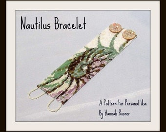 Bead Pattern Nautilus Shell Beaded Bracelet peyote stitch tutorial instructions
