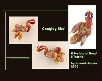 Hannah Rosner Sculptural Lampwork Glass Bead Tutorial for soft glass or boro -  A Googley Bird