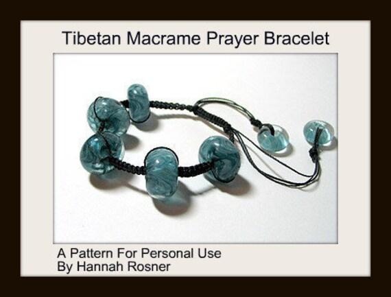 Beading Pattern Bead Macrame Tibetan Prayer Style Bracelet