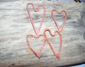 Rustic Heart Connectors Paprika