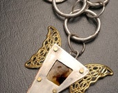 Urban Romantic Vintage tintype Necklace with wings