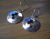 UrbanRomantic Hammered Discs with Cut out cross