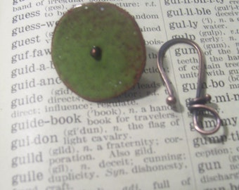 Rustic Enameled Clasp Lime Avocado Green Made to Order
