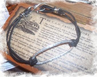 Urban Metal and Leather Bracelet