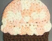 Crochet Cupcake Mini Washcloth