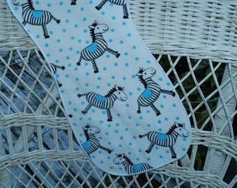 Zebra and polka dots burp cloth