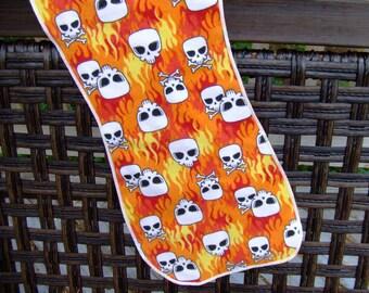 Let them burn, skull burp cloth, burpies. burpclothes