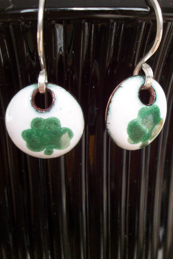 Enamel Shamrock Earrings Lucky to order