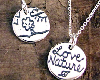 Love Nature Necklace - Nature Jewelry - Jewelry for Nature Lovers