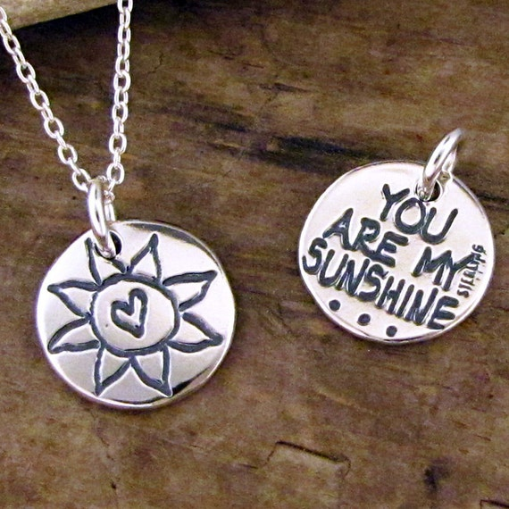 you are my sunshine necklace sun charm you are my sunshine