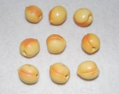PEACHES and CREAM miniature vintage peaches with free gift
